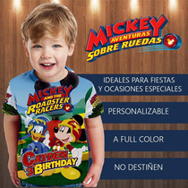 Franelitas Camisa Mickey Aventura Sobre Ruedas Niño Fiesta