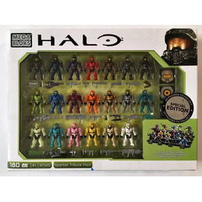 Halo Mega Bloks Spartan Tribute Pack 180p 20 Figuras Y Stand