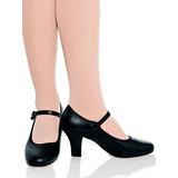Sapato Para Dança De Salão Em Couro Modelo Boneca Capezio 40