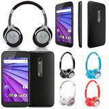 Motorola Moto G3 4g Lte 8gb 13mp + Auricular Moto Pulse 2