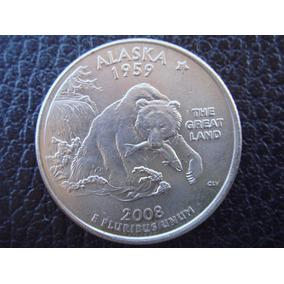 U. S. A. - Alaska, Moneda De 25 Centavos (cuarto), Año 2008