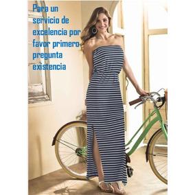 Maxi Vestido Strapless A Rayas Andrea