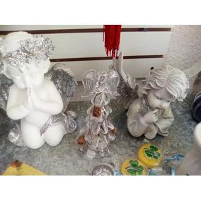 Angel De La Guarda En Ceramica Con Luces Led