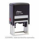 Sello Tinta Automatico Marca Shiny S-827d Fechador 50x30mm