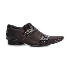 Sapato Social Calvest Couro Capuccino Masculino