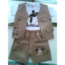 Roupa Mickey Safari Infantil