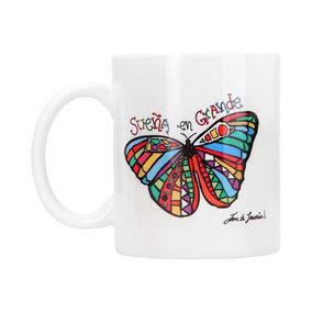 Taza En Cerámica Dream Big - Modelo Mariposa