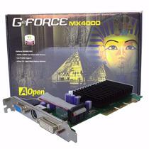 Placa De Video Agp Geforce Aopen Mx4000 64/128mb 32bit 8x