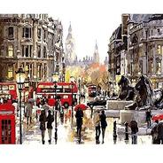 Lienzo Pinta Por Números Londres Inglaterra Grupo Educar