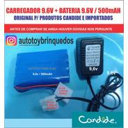 Bateria 9.6v 500mah + Carregador 9.6v (plug Triplo)
