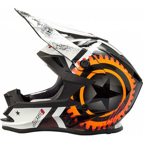 Casco Motocross Just1 Moto X Orange