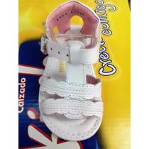 Huaraches Marca Kinder Para Niña Color Blanco 6964