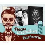 Placas Decorativas Para Barbearia - 20x13 - Promoções