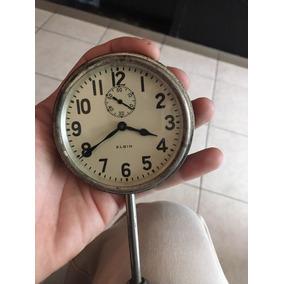 Reloj Elgin Para Auto Antiguo Cuerda Funcionado Bolsillo
