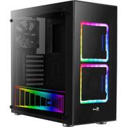 Gabinete Gamer Aerocool Tor Negro Cristal Templado Atx Rgb