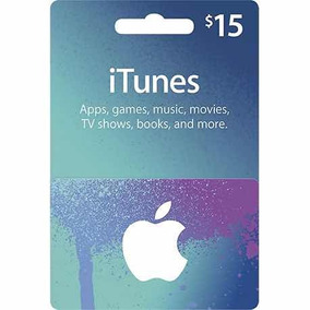 Gift Card Eua $15 Apple Itunes Store Ipod Iphone Gift Card