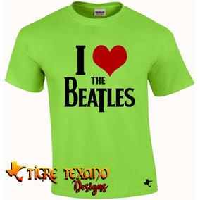 Playera Bandas The Beatles Mod. 02 By Tigre Texano Designs