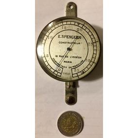Antiguo Manómetro Francés Bronce Niquelado