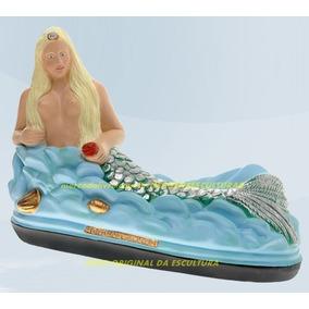 Escultura Linda Sereia Do Mar Ondina 40cm Promoção No Ml