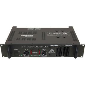 Amplificador De Potência Wattsom W Power 2 3300 Ab