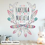 Vinilo Decorativo Infantil Pack Pluma Boho Frase Nena M10001