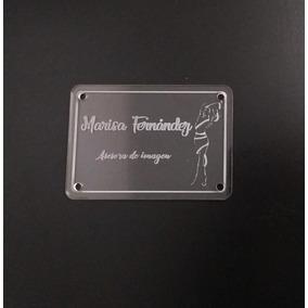 Placa De Acrílico Transparente 3mm Grabada 10x7cm C/tornilos