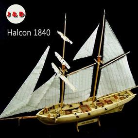 Veleiro Halcon - 1840 - Escala 1/100 - Madeira Corte Laser