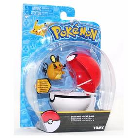 Pokemon Figura Dedenne Y Pokebola Poke Ball Tomy