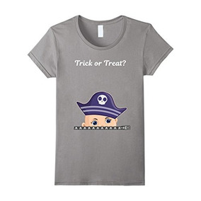 Womens Halloween Peeking Baby Boy Traje De Pirata De Embara