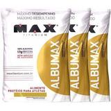 Kit 3 Albumina - Albumax 100% 500g Max Titanium (1,5kg)
