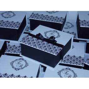 20 Caixas Convite 15x15x5 Padrinhos Debutante