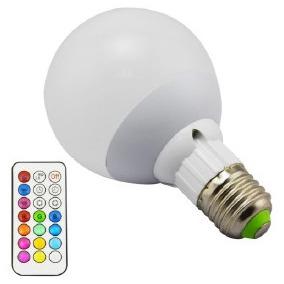 Ampolleta Led Q50e27 Color Control Remoto 3w 220v Piscineria