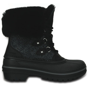 Bota Crocs Dama All Cast Ii Lujo Negra