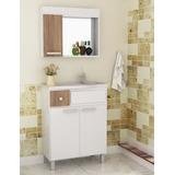 Mueble De Baño - Combo De Bajo Mesada, Pileta Y Espejo