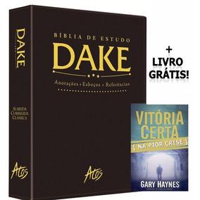 Bíblia De Estudo Dake Preta + Livro Grátis