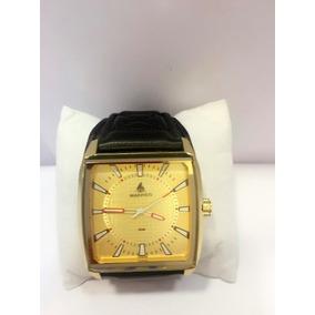 Relógio Masculino Com Bracelete De Couro Frete Grátis