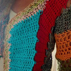 Saquito Hippy Tejido A Mano A Crochet Multicolor