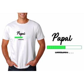 Camiseta Camisa Masculina Carregando Papai Primeira Viagem