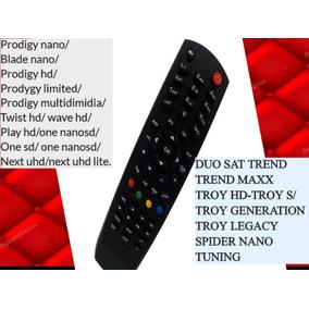 Kit 5 Controle Remoto Du#osat Trend Hd P/ Tv Led Philips
