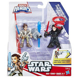 Playskool Galactic Heroes Figuras Power Up Rey Y Kylo Ren