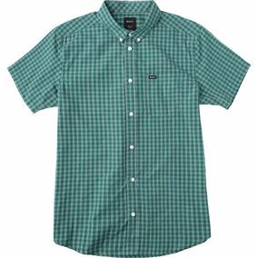 Camisa Rvca That´ll Do Plaid S/s Verde Hombre