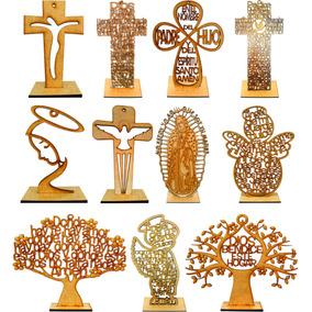 Cruces Angelitos Árboles Mdf Personalizados 20 Cm Fiestas