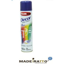 Tinta Spray Colorgin Decor Azul Metálico Angra 360ml - 6108
