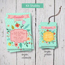 Kit Imprimible Shabby Vintage, Personalizado, Cumple, Candy