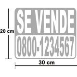 Calcomanias De Se Vende Carro, Casa De 30 X 20 Cm