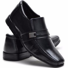 Sapato Social Infantil Masculino Em Couro Legítimo