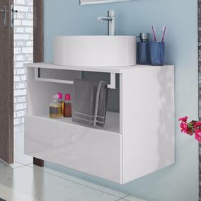 Gabinete Para Banheiro Com Cuba Redonda Solaris Itatiaia