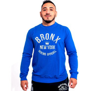 Buzo Bronx Hombre Algodon Entrenamiento Boxeo Gym Olivos