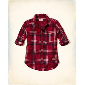 Camisa Hollister Xadrez Vermelha Feminina Pp