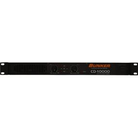 Amplificador De Poder Bunker Cd-10000 (500 Watts Rms X 2)